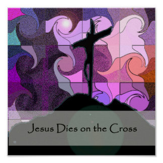 Christian easter posters prints zazzle stations of the cross 13 poster negle Image collections