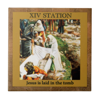 Stations of the Cross #14 of 15 Jesus in the tomb Tile