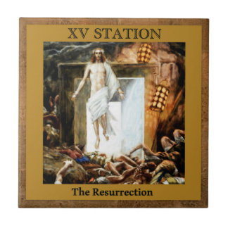 Stations of the Cross #15 of 15 The Resurrection Tile