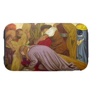 Stations of the Cross 9 Jesus Falls the Third Time Tough iPhone 3 Cover
