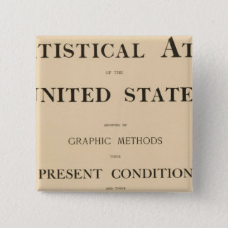 statistical atlas 15 cm square badge