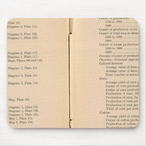 Statistical atlas 1900 7 mousepad