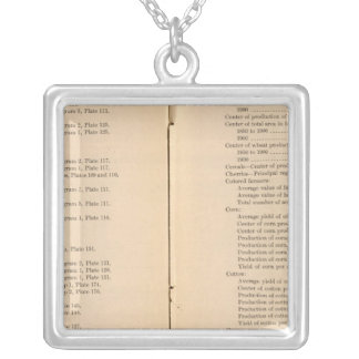 Statistical atlas 1900 7 silver plated necklace