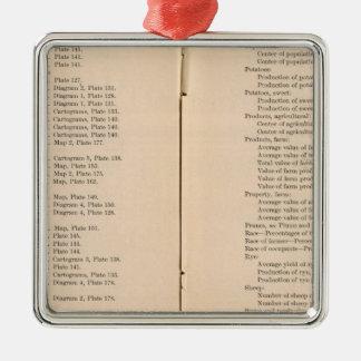 Statistical atlas 1900 8 Silver-Colored square decoration