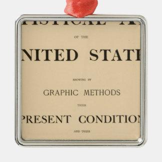 statistical atlas Silver-Colored square decoration