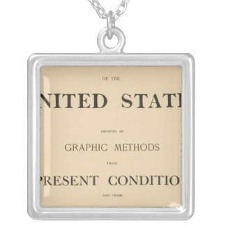 statistical atlas silver plated necklace