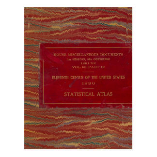 Statistical atlas United States Postcard