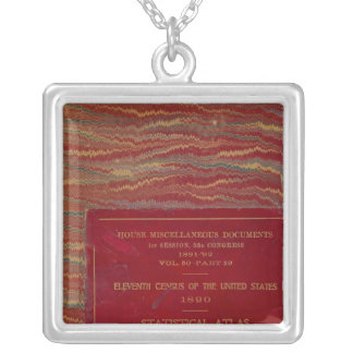 Statistical atlas United States Silver Plated Necklace