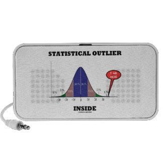 Statistical Outlier Inside (Bell Curve Humor) Notebook Speaker
