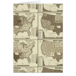 Statistical United States lithographed maps Card