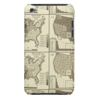 Statistical United States lithographed maps Case-Mate iPod Touch Case