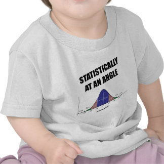 Statistically At An Angle (Bell Curve Humor) T-shirts