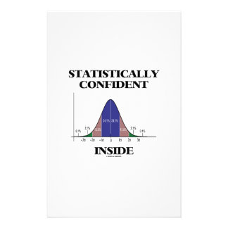 Statistically Confident Inside (Bell Curve Humor) Customized Stationery