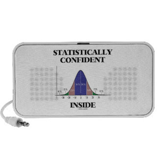 Statistically Confident Inside (Bell Curve Humor) Mp3 Speakers
