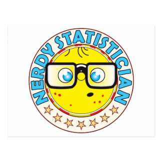 Statistician Nerdy Postcard