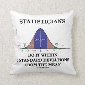 Statisticians Do It Within 3 Standard Deviations Throw Pillow