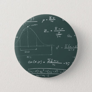 Statistics blackboard 6 cm round badge