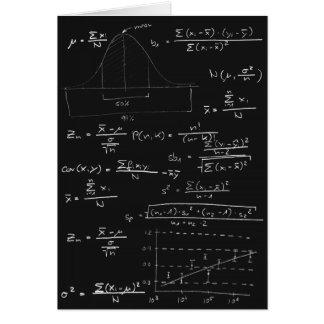 Statistics blackboard card
