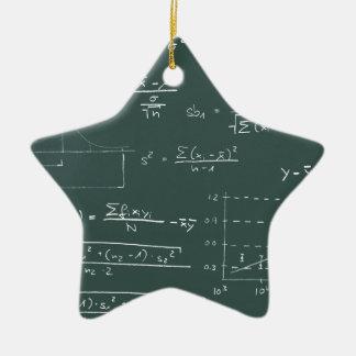 Statistics blackboard christmas ornament