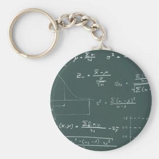 Statistics blackboard key ring