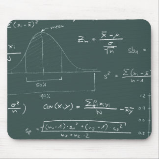 Statistics blackboard mouse mat
