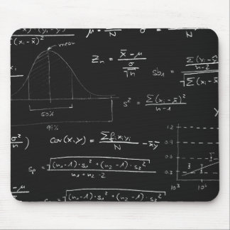 Statistics blackboard mousepads