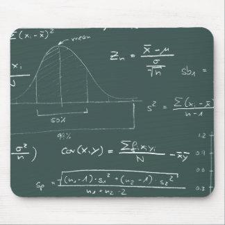 Statistics blackboard mousepad