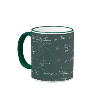 Statistics blackboard ringer mug
