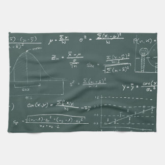 Statistics blackboard tea towels