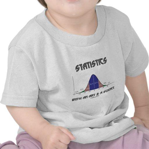 Statistics Both An Art & A Science (Bell Curve) T Shirts