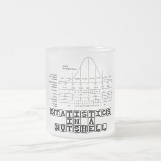Statistics In A Nutshell (Stats Cheat Sheet) Frosted Glass Coffee Mug