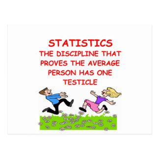 statistics joke postcard