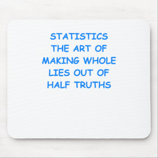 statistics mouse pad