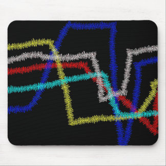 """Statistics"" multicolored Mousepad"