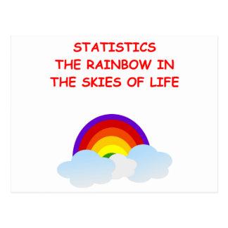 statistics postcard