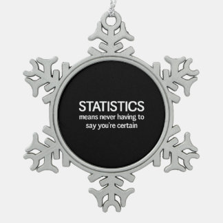 Statistics Snowflake Pewter Christmas Ornament