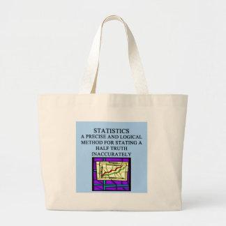 STATISTICS statistician humor Jumbo Tote Bag