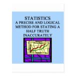 STATISTICS statistician humour Postcard