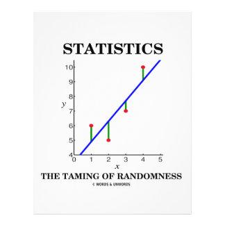 Statistics The Taming Of Randomness (Stats Humor) 21.5 Cm X 28 Cm Flyer