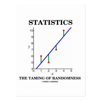 Statistics The Taming Of Randomness (Stats Humor) Postcard
