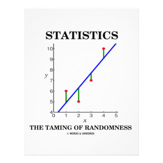 Statistics The Taming Of Randomness (Stats Humour) 21.5 Cm X 28 Cm Flyer