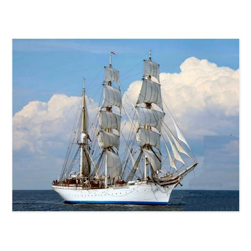 Statsraad Lemkuhl, Norwegian tall ship Post Card