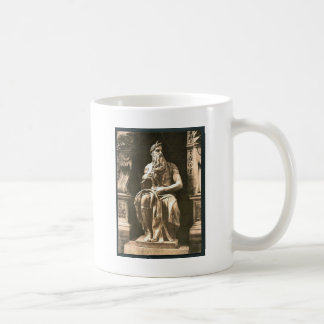 """Statue by Michael Angelo, """"The Seated Moses"""", Rome Basic White Mug"""