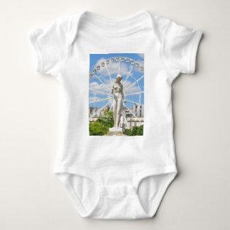 Statue depicting woman in Paris Baby Bodysuit
