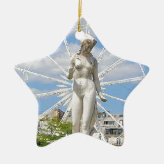 Statue depicting woman in Paris Ceramic Star Decoration