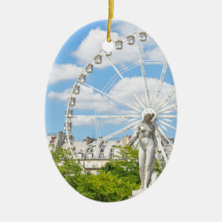 Statue depicting woman in Paris Christmas Ornament