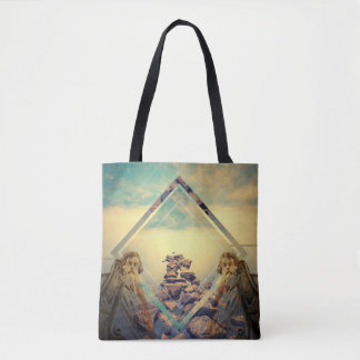 Statue Design Tote Bag