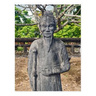 Statue, Imperial Tomb of Emperor Thieu Tri, Hue Postcard