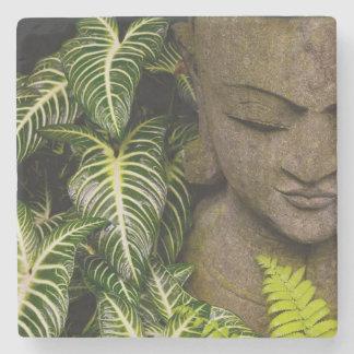 Statue in a Garden: Chiang Mai, Thailand Stone Coaster