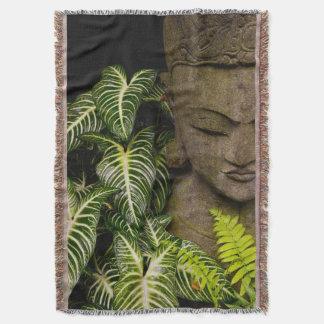 Statue in a Garden: Chiang Mai, Thailand Throw Blanket